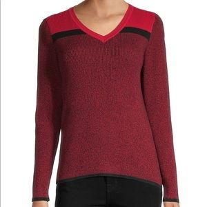 KAREN SCOTT Knit Colourblock Sweater